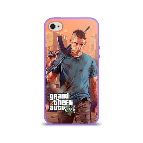 Чехол для Apple iPhone 4/4S силиконовый глянцевый  Фото 01, GTA