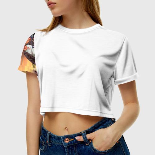 Женская футболка 3D укороченная GTA