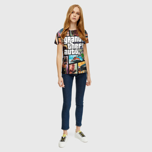Женская футболка 3D GTA Фото 01