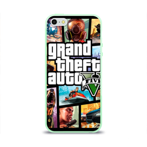 Чехол для iPhone 5/5S глянцевый GTA Фото 01