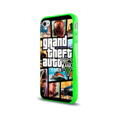 Чехол для Apple iPhone 4/4S силиконовый глянцевый GTA Фото 01