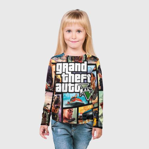 Детский лонгслив 3D  Фото 03, GTA