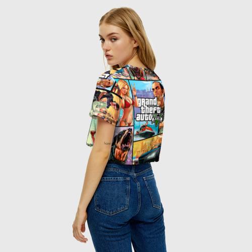 Женская футболка Crop-top 3D GTA Фото 01