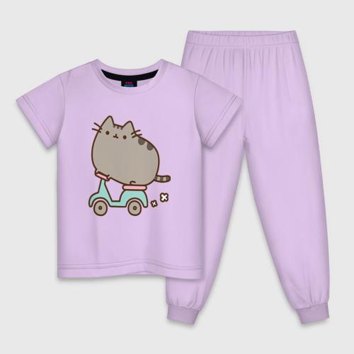 Детская пижама хлопок Кот Пушин Фото 01