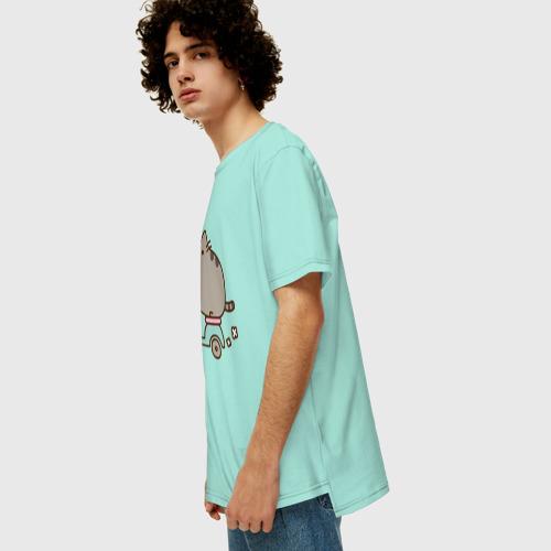 Мужская футболка хлопок Oversize Кот Пушин Фото 01