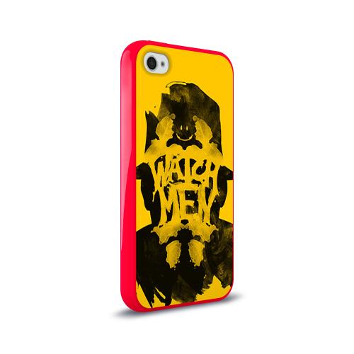 Чехол для Apple iPhone 4/4S силиконовый глянцевый  Фото 02, Роршах