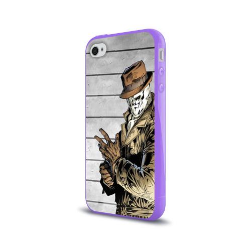 Чехол для Apple iPhone 4/4S силиконовый глянцевый  Фото 03, Роршах