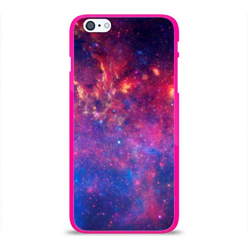 """Чехол силиконовый глянцевый для Apple iPhone 6 Plus """"Космос"""" (5) - 1"""