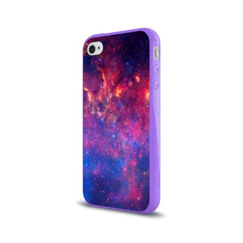 Чехол для Apple iPhone 4/4S силиконовый глянцевый Космос Фото 01