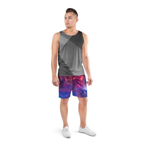 Мужские шорты 3D спортивные Космос Фото 01