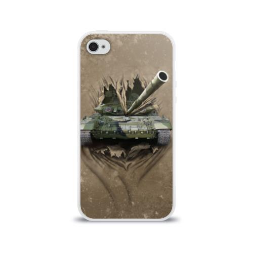 Чехол для Apple iPhone 4/4S силиконовый глянцевый Танк Фото 01