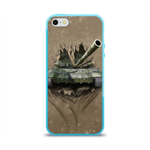 Чехол для Apple iPhone 5/5S силиконовый глянцевый Танк Фото 01