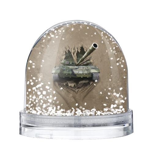 Водяной шар со снегом Танк