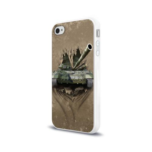 Чехол для Apple iPhone 4/4S силиконовый глянцевый  Фото 03, Танк