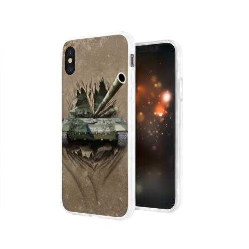 Чехол для Apple iPhone X силиконовый глянцевый Танк Фото 01