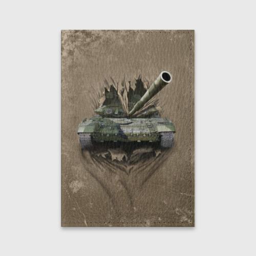 Обложка для паспорта матовая кожа Танк Фото 01