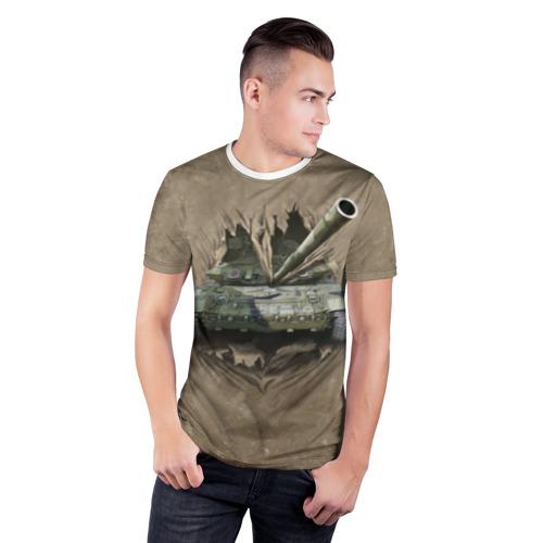 Мужская футболка 3D спортивная Танк Фото 01