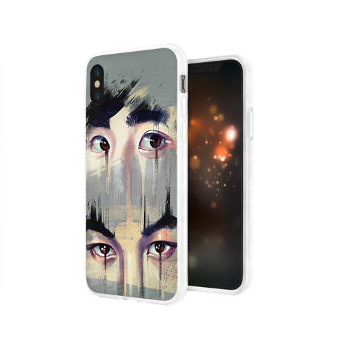 Чехол для Apple iPhone X силиконовый глянцевый Exo Фото 01