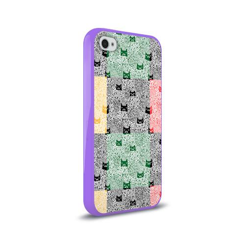 Чехол для Apple iPhone 4/4S силиконовый глянцевый  Фото 02, Котики