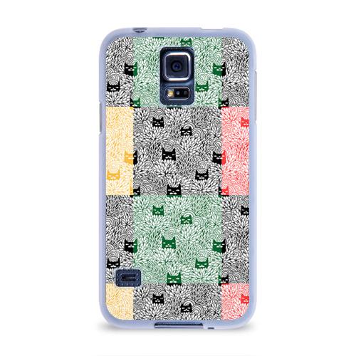 Чехол для Samsung Galaxy S5 силиконовый  Фото 01, Котики