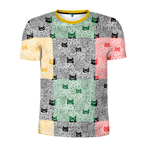 Мужская футболка 3D спортивная Котики