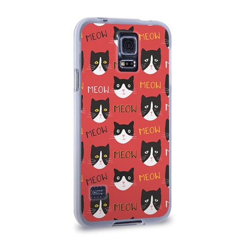 Чехол для Samsung Galaxy S5 силиконовый  Фото 02, Meow