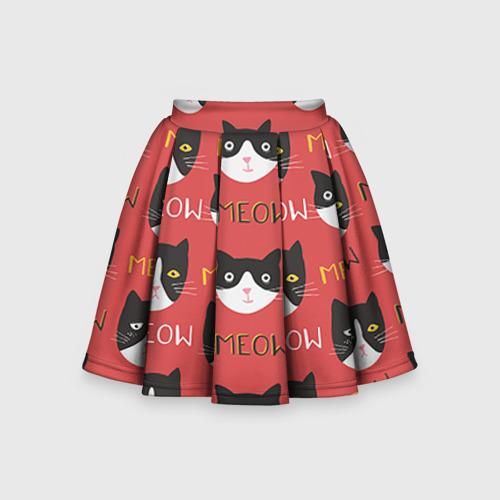 Детская юбка-солнце 3D Meow