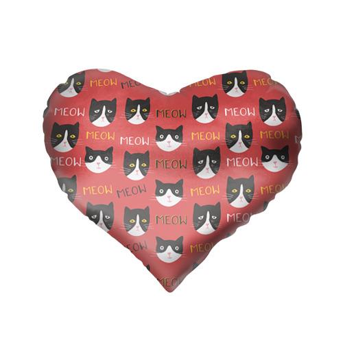 Подушка 3D сердце  Фото 02, Meow