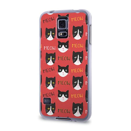 Чехол для Samsung Galaxy S5 силиконовый  Фото 03, Meow