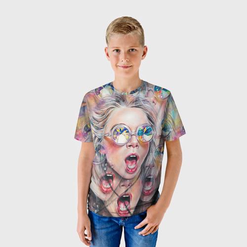 Детская футболка 3D Девушка