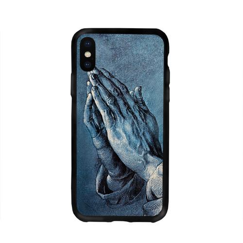 Чехол для Apple iPhone X силиконовый глянцевый Руки Фото 01