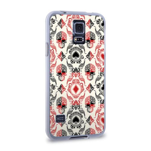 Чехол для Samsung Galaxy S5 силиконовый  Фото 02, Карточные масти