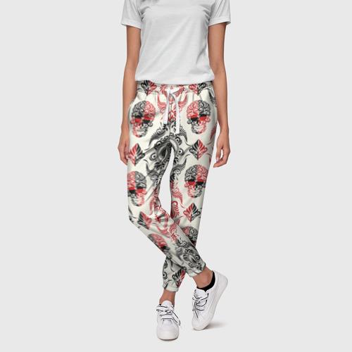 Женские брюки 3D  Фото 01, Карточные масти