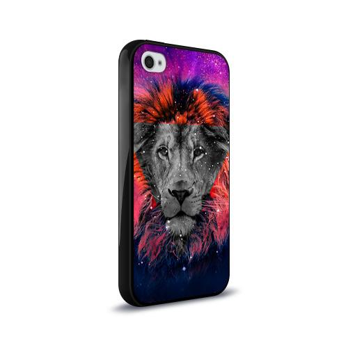 Чехол для Apple iPhone 4/4S силиконовый глянцевый  Фото 02, Космический лев
