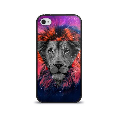 Чехол для Apple iPhone 4/4S силиконовый глянцевый  Фото 01, Космический лев