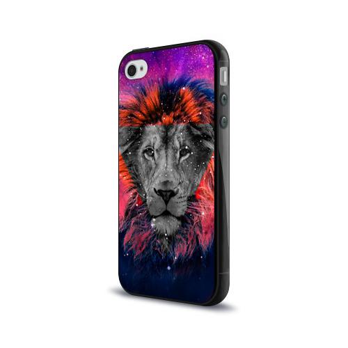 Чехол для Apple iPhone 4/4S силиконовый глянцевый  Фото 03, Космический лев