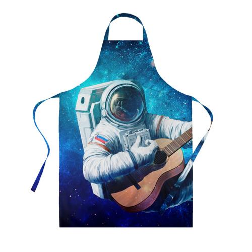 Фартук 3D Космонавт с гитарой