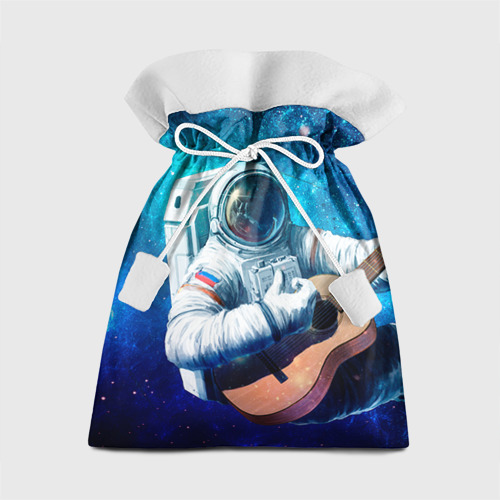Подарочный 3D мешок Космонавт с гитарой Фото 01