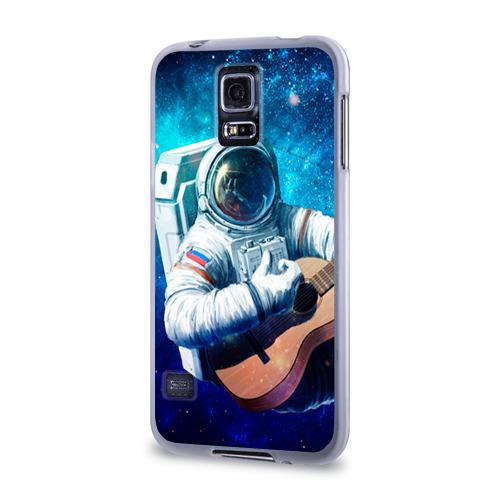 Чехол для Samsung Galaxy S5 силиконовый  Фото 03, Космонавт с гитарой