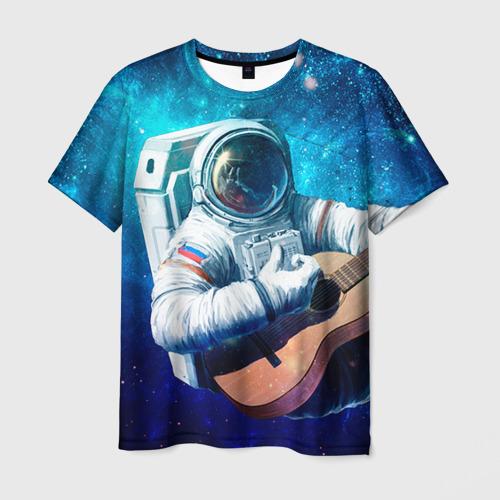 Мужская футболка 3D  Фото 03, Космонавт с гитарой