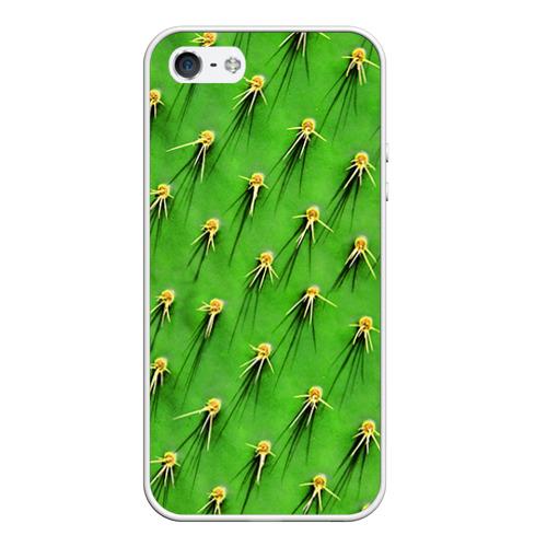 Чехол силиконовый для Телефон Apple iPhone 5/5S Кактус