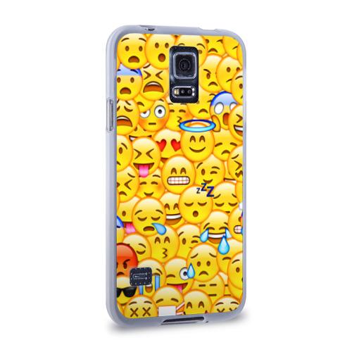 Чехол для Samsung Galaxy S5 силиконовый  Фото 02, Emoji