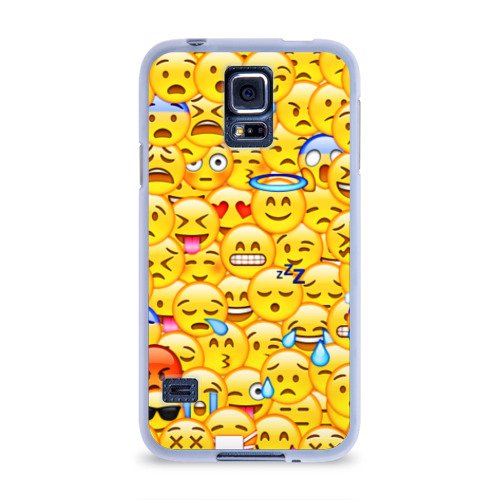 Чехол для Samsung Galaxy S5 силиконовый  Фото 01, Emoji