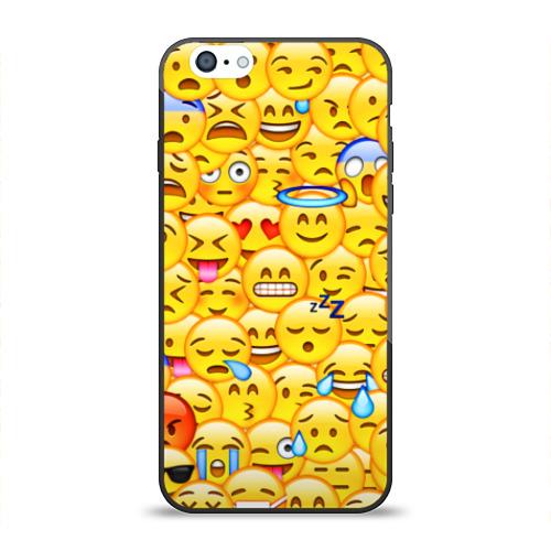 Чехол для Apple iPhone 6 силиконовый глянцевый Emoji Фото 01