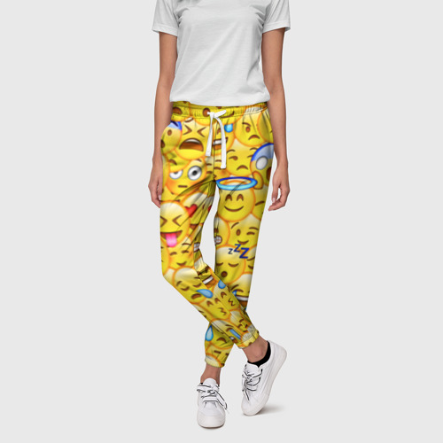 Женские брюки 3D Emoji