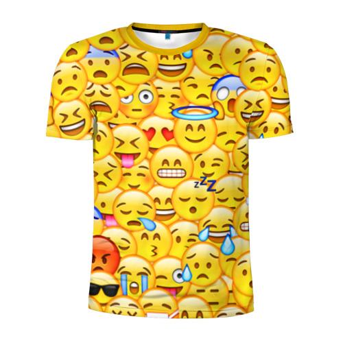 Мужская футболка 3D спортивная Emoji