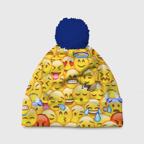 Шапка 3D c помпоном Emoji
