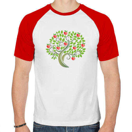 Мужская футболка реглан  Фото 01, Яблоки