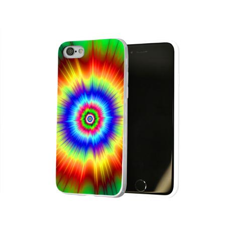 Чехол для Apple iPhone 8 силиконовый глянцевый  Фото 02, Tie dye