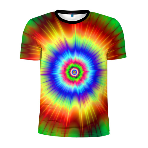 Мужская футболка 3D спортивная Tie dye